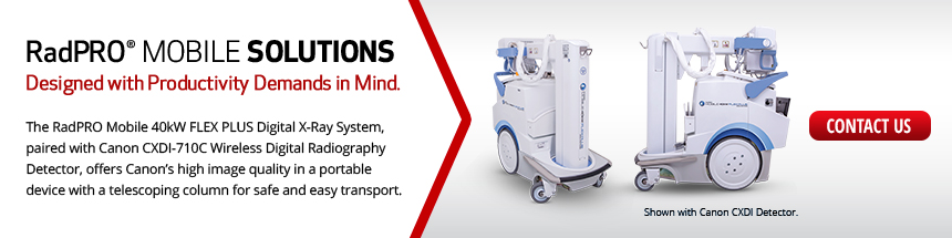 Canon RadPRO Mobile 40kW FLEX PLUS Digital X-Ray System